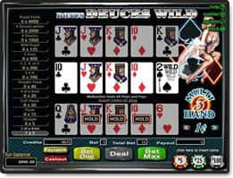 Video Poker Example Deuces Wild