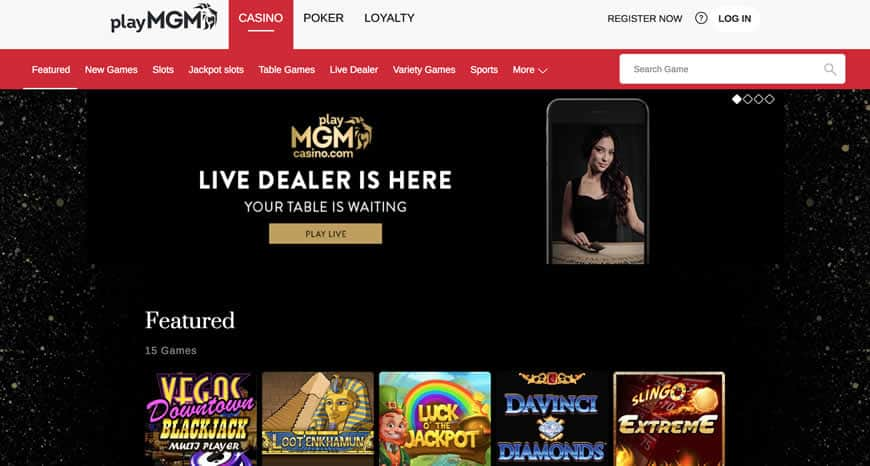 online casino at MGM new jersey