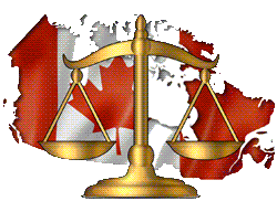 Canada Flag in front of legal scale
