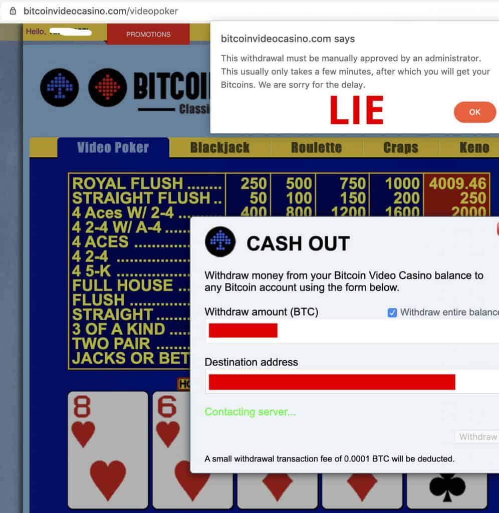 BVC Casino Lying About Instant Cashouts