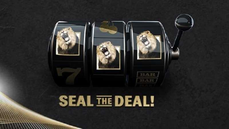 michigan bet mgm slot machine promo with seal the deal caption